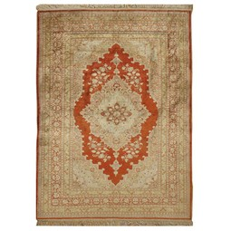 antique silk tabriz by Lavender Oriental Carpets