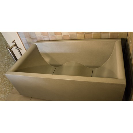 The Urban Cube Wave Tub	 by Sonoma Cast Stone