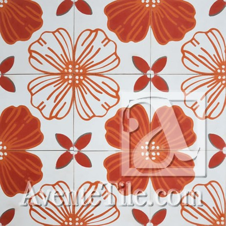Jardin 3A Cement Tile by Avente Tile