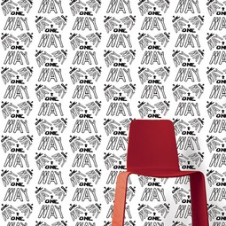 One Way Wallpaper by Adrienne Chinn Design