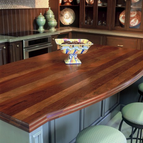 Brazilian Cherry Kitchen Island Top by J. Aaron