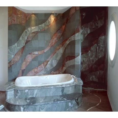 Residential Stone Bathroom by Creative Edge Master Shop, Inc