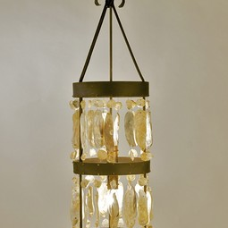 Shell Cylinder Chandelier by Lowcountry Originals