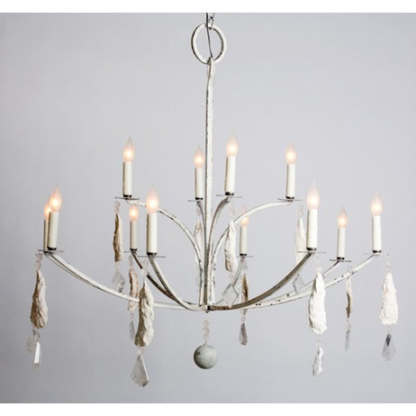 Shell Crystal Chandelier by Lowcountry Originals