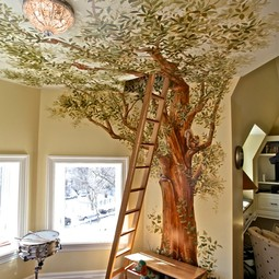 Playroom Treehouse Mural by Simes Studios, Inc.