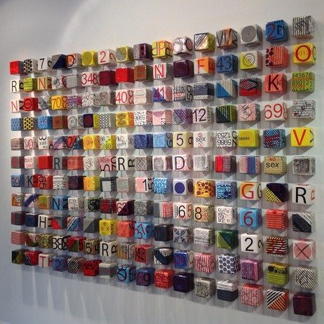 ceramic cube installation by Next Step Studio & Gallery