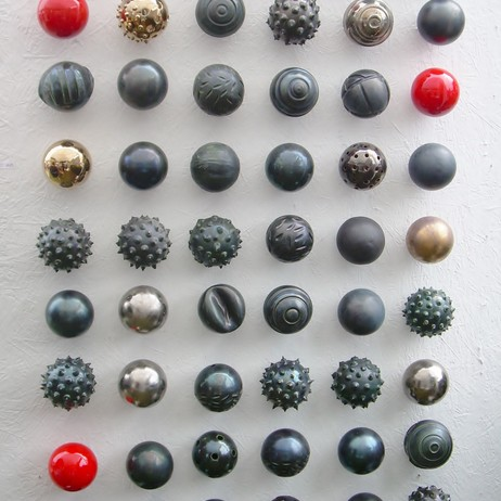 ceramic sphere wall by Next Step Studio & Gallery