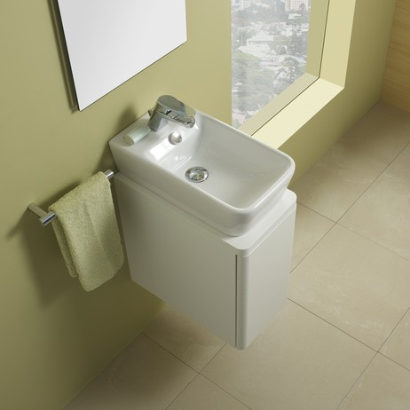 Emma wall-mount ceramic Sink by Bissonnet