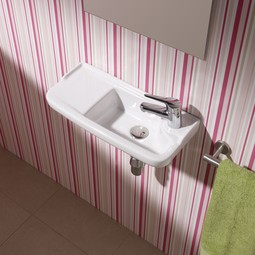 Oxygen wall-mount ceramic Sink by Bissonnet