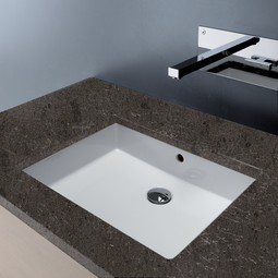 SLIM under-counter ceramic Sink by Bissonnet