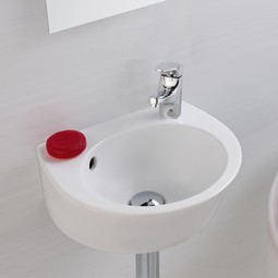 Street wall-mount ceramic Sink by Bissonnet