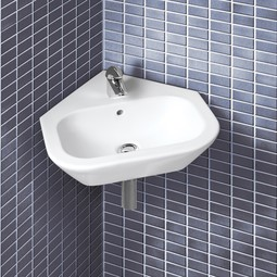 Nexus corner ceramic Sink by Bissonnet