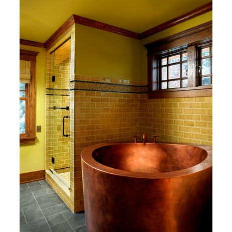 Copper Japanese Soaking Tub by Diamond Spas