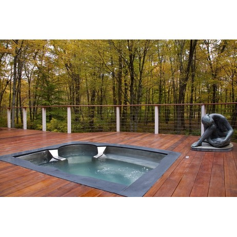 Stainless Steel Hot Tub with Ofuro  by Diamond Spas