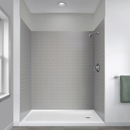 Jetcoat Shower Wall Systems in Grey Subway by Foremost Groups