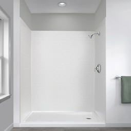 Jetcoat Shower Wall Systems in White Subway by Foremost Groups