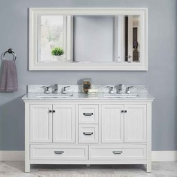 "Brantley 60"" Vanity in White by Foremost Groups"