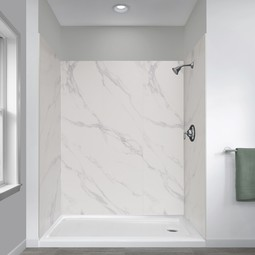 Jetcoat Shower Wall Systems in Carrara White by Foremost Groups