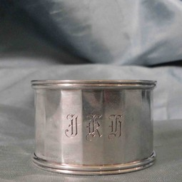 English Vintage Silver Napkin Ring by Silver Magpies