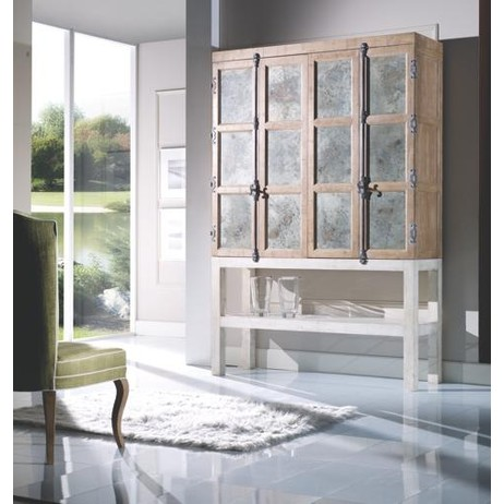 Cotone TV Armoire with Zinc Panels by Artitalia Group