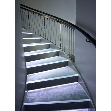 Glass Stair Treads by THINKGLASS INC
