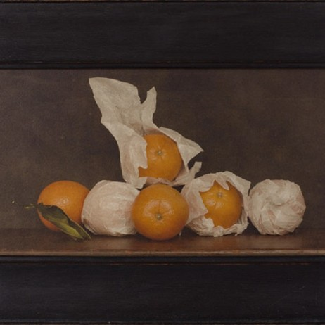 "Jefferson Hayman 'Still LIfe with Oranges'  13.5 x 22.5"" by The Schoolhouse Gallery"