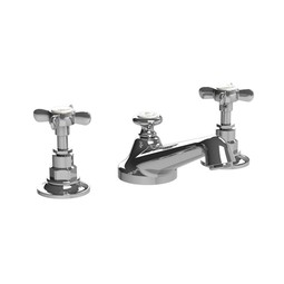 CLASSIC Cross Handle 3-Hole Basin Mixer by Lefroy Brooks