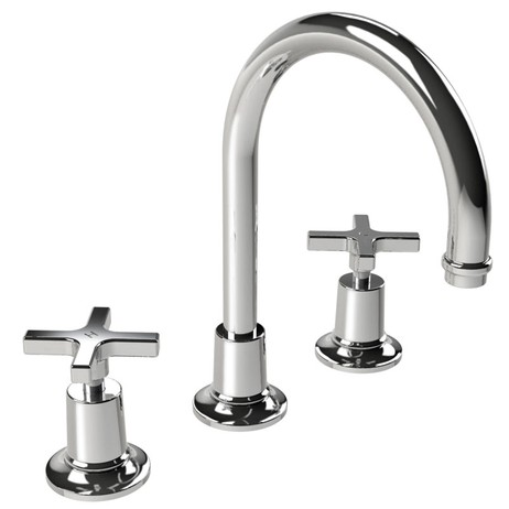 Fleetwood Cross Handle 3-Hole Basin Mixer by Lefroy Brooks