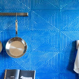 AVO hand-painted Leather wall tiles by AVO
