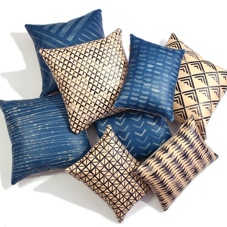 Painted Plains Leather Pillows by AVO