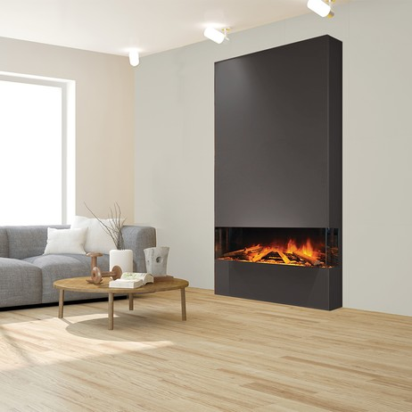 E40 3-Sided Electric Fireplace by Electric Modern