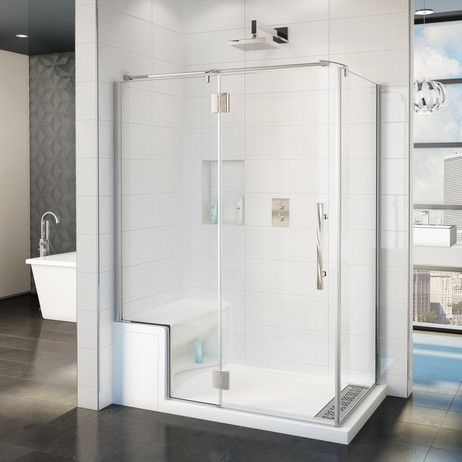 ALESSA SHOWER BASE WITH SEAT by Fleurco inc.