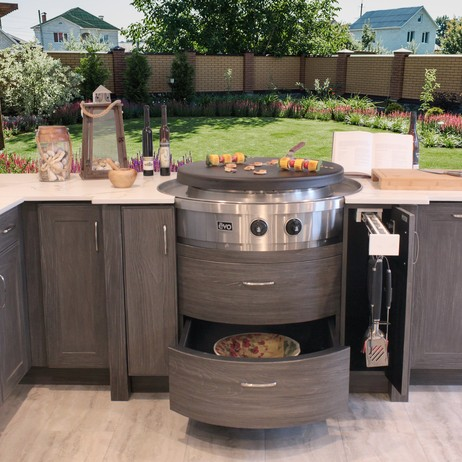 Evo Cooktop Cabinets by NatureKast weatherproof cabinetry