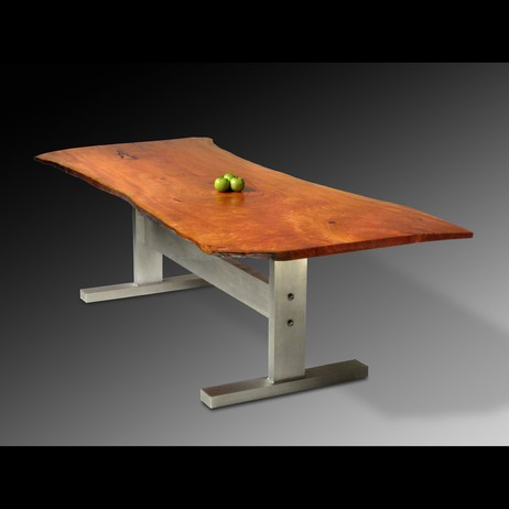 Cherry Slab Dining Table by David Stine Woodworking