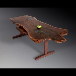 Walnut Slab Desk by David Stine Woodworking