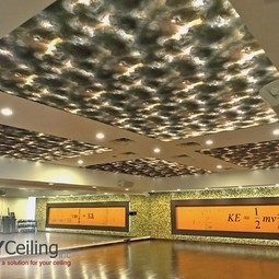"stretch ceiling with photo print ""Bio-Energy Pattern""  by NYCeiling, Inc."