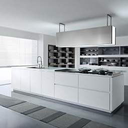 Dune - textured white lacquer by Pedini