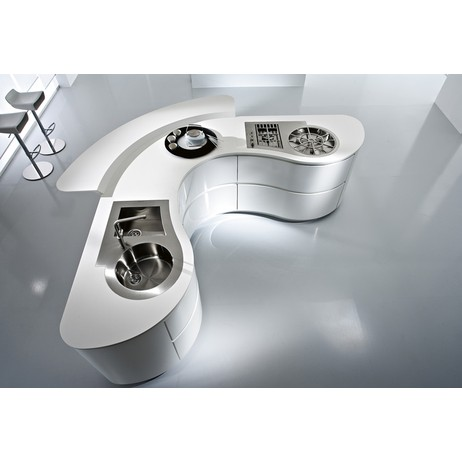 Dune - white high gloss lacquer by Pedini