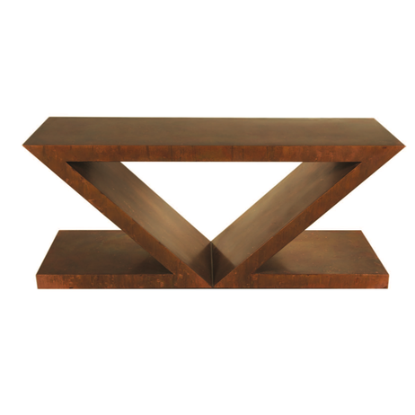 Double Z Dining Table Base by Perry Design