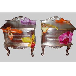 ORCHID BEDSIDE TABLES 	   by Jimmie Martin