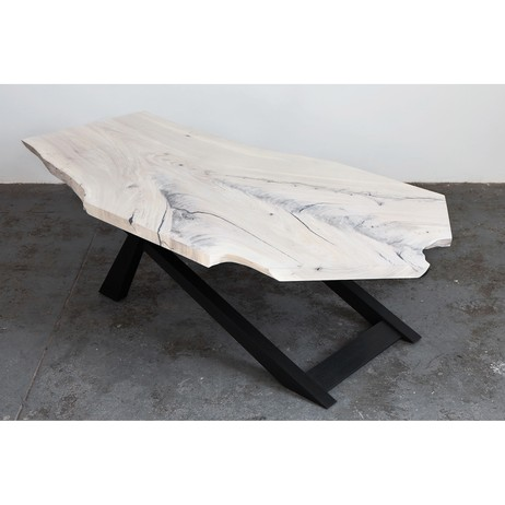 Whitewashed Elm Coffee Table by Robert Sukrachand Furniture