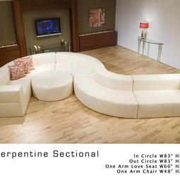 Serpentine sectional by Outer Limits Upholstery