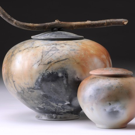 Saggar Fired Vessels by Brenda McMahon Ceramics