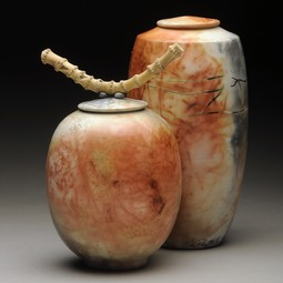 Two Vessels by Brenda McMahon Ceramics