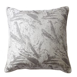 Bark cushion in taupe by Cocoon Fabric Art