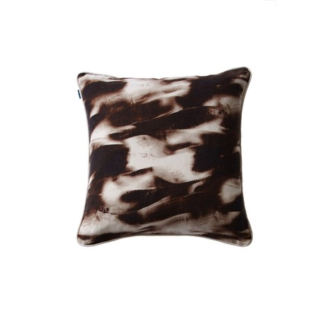 Mineral cushion in terracotta by Cocoon Fabric Art