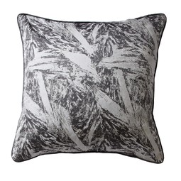 Bark cushion in slate by Cocoon Fabric Art