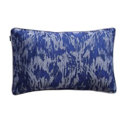 Floral cushion in indigo by Cocoon Fabric Art