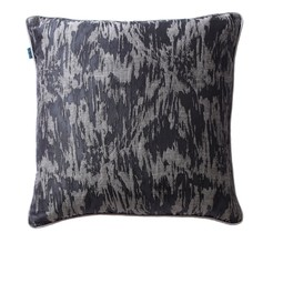 Floral cushion in charcoal by Cocoon Fabric Art