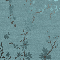 Japanese Garden Teal by Concept Interiors Rugs